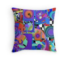 Paint with Holes Throw Pillow