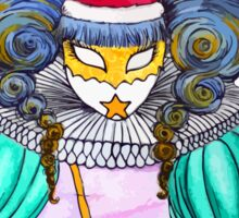 Christmas in Venice : Court Jester Sticker