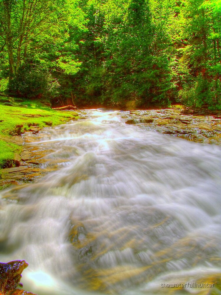 Candle Mill Village Rapids by thewaterfallhunter