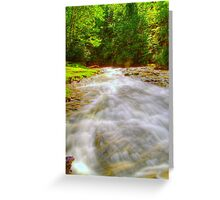 Candle Mill Village Rapids Greeting Card