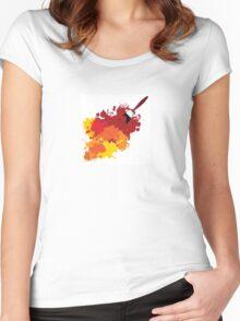 Paint splat Women's Fitted Scoop T-Shirt
