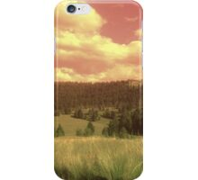 Red sky country iPhone Case/Skin