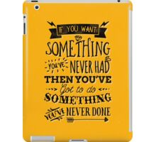 Motivational Quote Typography Vintage Dusty Ink Print iPad Case/Skin