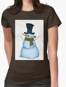 Snowman Womens Fitted T-Shirt