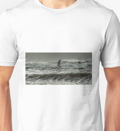 Surfer in Rough Sea Unisex T-Shirt