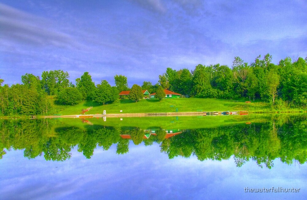 Reflection at Lake Paran by thewaterfallhunter