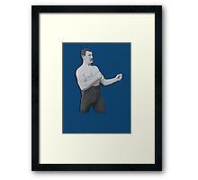 Overly Manly Man meme boxer Framed Print
