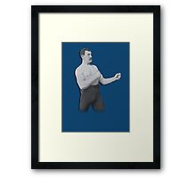 Overly Manly Man meme boxer Framed Print