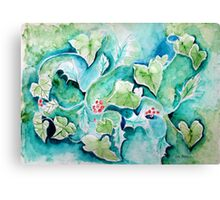 HOLLY AND IVY WINTER Canvas Print