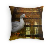 Goosy Goosy Gander Whither shall I wander Throw Pillow