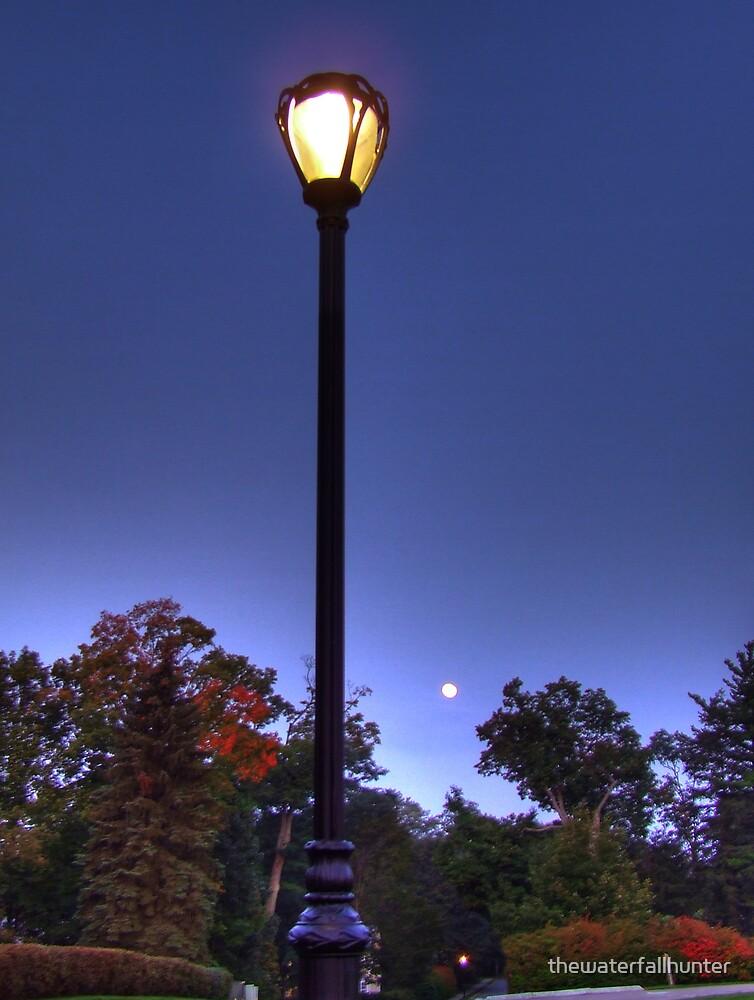 Moonlit Street Lamp by thewaterfallhunter