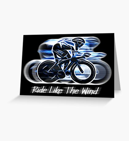 Ride Like The Wind (version 2) Greeting Card