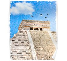 Mayan Magic - The Iconic Pyramid At Chichen Itza Poster