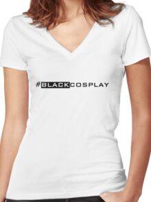 #BLACKCOSPLAY Women's Fitted V-Neck T-Shirt