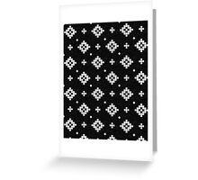 Arizona - tribal black and white native design in geometric blocks Greeting Card