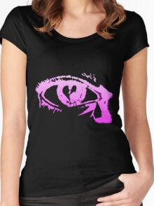 Eye Cry [Violet] Women's Fitted Scoop T-Shirt