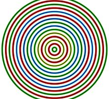 Vibrating Concentric Color Circles by Gianni A. Sarcone