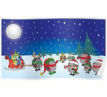 Hedgehog's Christmas magic Poster