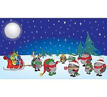 Hedgehog's Christmas magic Photographic Print