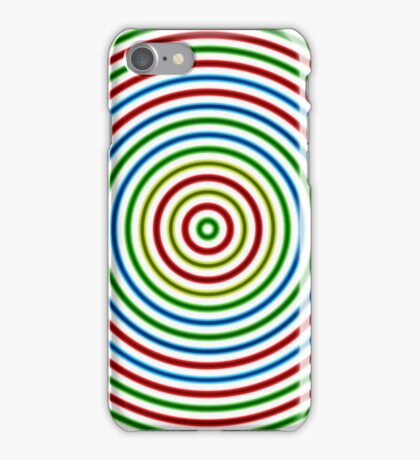 Vibrating Concentric Color Circles iPhone Case/Skin