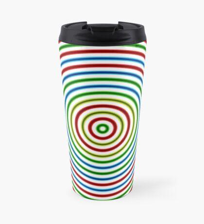 Vibrating Concentric Color Circles Travel Mug