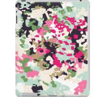 Finch - modern abstract painting in blush, pink, mint, gold, white iPad Case/Skin