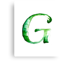 Alphabet G Canvas Print