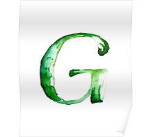 Alphabet G Poster