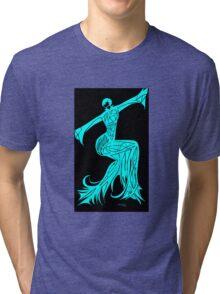Blue Fire Girl Tri-blend T-Shirt