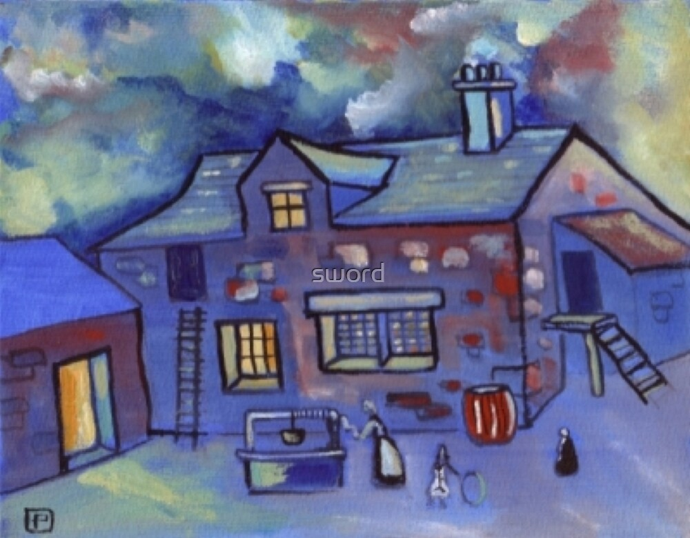 The old cottage (from my original painting) by sword