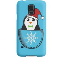 Christmas pocket penguin Samsung Galaxy Case/Skin