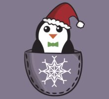 Christmas pocket penguin Kids Tee
