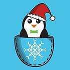 Christmas pocket penguin by Lauramazing