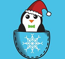 Christmas pocket penguin by Lauramazing