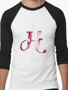 Alphabet H Men's Baseball ¾ T-Shirt