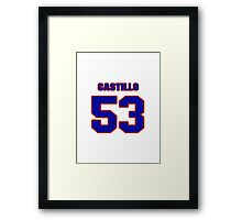 National baseball player Alberto Castillo jersey 53 Framed Print