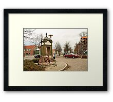 Old telephone in Simrishamn Framed Print