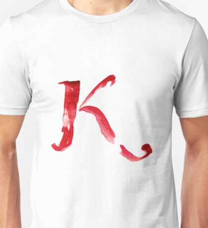Alphabet K Unisex T-Shirt