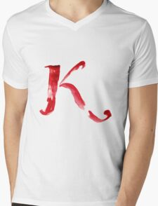 Alphabet K Mens V-Neck T-Shirt