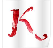 Alphabet K Poster