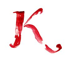 Alphabet K Photographic Print
