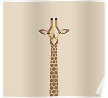 Geo Giraffe Poster