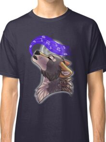 Howling music notes Classic T-Shirt