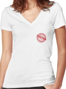 Doctor Approved! The Bones Are Accurate Stamp Women's Fitted V-Neck T-Shirt