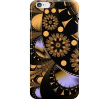 Golden flowers and petals iPhone Case/Skin