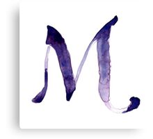 Alphabet M Canvas Print