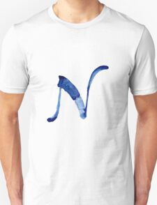 Alphabet N Unisex T-Shirt