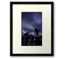 Trees and clouds and time Framed Print