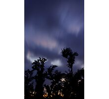 Trees and clouds and time Photographic Print