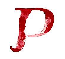 Alphabet P Photographic Print